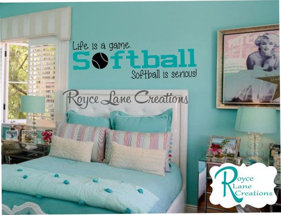 Life is a Game Softball is Serious Softball by RoyceLaneCreations