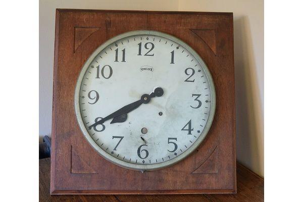 Large Factory Clock In Wooden Case | Vinterior London  #vintage #synclock #interiors #design