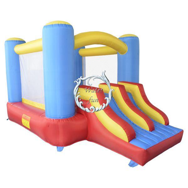 Дважды пер надувные слайд, Домашнего использования прыжки дом, Надувной батут слайд-комбо для детей