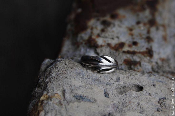 Sagebrush ring. Кольцо листик - серебряный, серебро, кольцо, лист, полынь, растительный орнамент, растительный мотив