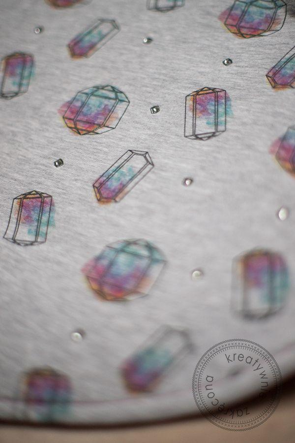 Miekkie fabric - big diamonds  Photos by Kreatywnie Zakrecona.