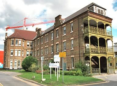 Brentford workhouse, 'Male Infirm' Pavilion, from the south-west, in 2001 (all the old workhouse buildings now demolished)