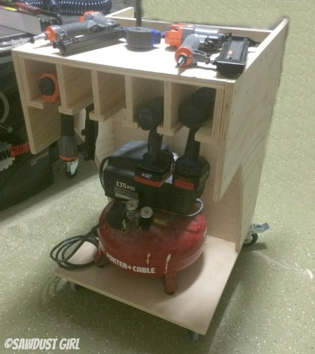 Air Compressor and Tool Organizing Work Cart - I like the idea of other tools there.