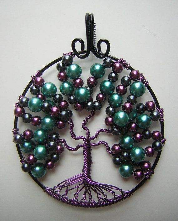 Unique Purple Tree of Life by RachaelsWireGarden on Etsy, $40.00