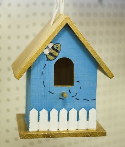 Hand painted bird house by UnfoldedImpressions on Etsy