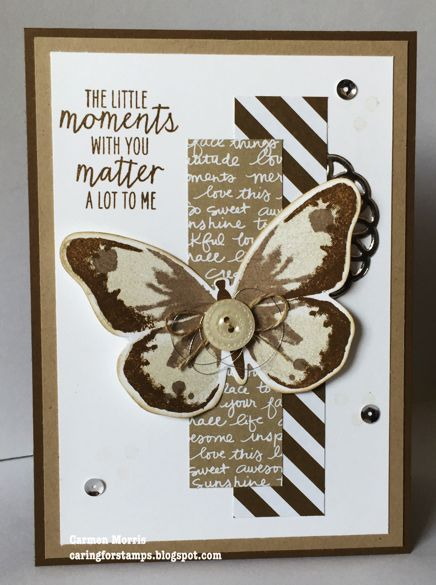 Caring for Stamps: Vintage Vrijdag #36 Stamp set: Watercolor Wings from Stampin' Up! Colors: Neutrals