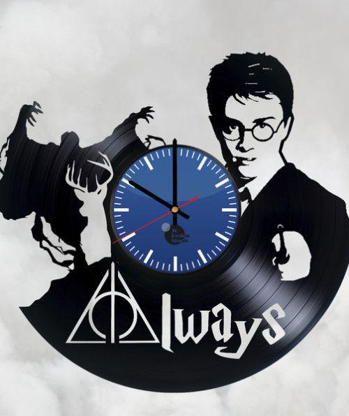 Harry Potter Always Handmade Vinyl Record Wall Clock