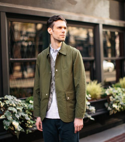 Sassafras Fall Leaf Jacket http://store.inventorymagazine.com/collections/sassafras/products/fall-leaf-jacket-olive-60-40: Men S Style, Greenish Jacket, Menswardrobe, Earth Tone, Men S Fashion, Olive Green Jackets, Menswear, Man Style