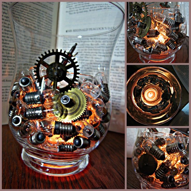 Great D.I.Y. Simply Steampunk Candle Holder