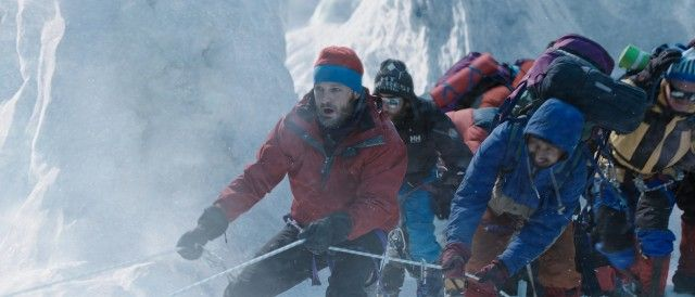"In ""Everest"", New Zealand's Rob Hall (Jason Clarke) leads a commercial expedition to summit the world's tallest mountain: http://www.dvdizzy.com/everest-film.html"