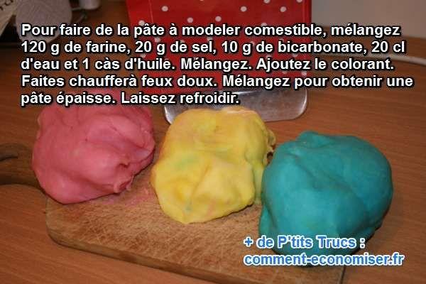 Heureusement il existe une recette maison, très facile à faire, de pâte à modeler comestible. Oui comestible !  Découvrez l'astuce ici : http://www.comment-economiser.fr/recette-maison-pate-modeler-maison-comestible.html?utm_content=buffer78e75&utm_medium=social&utm_source=pinterest.com&utm_campaign=buffer