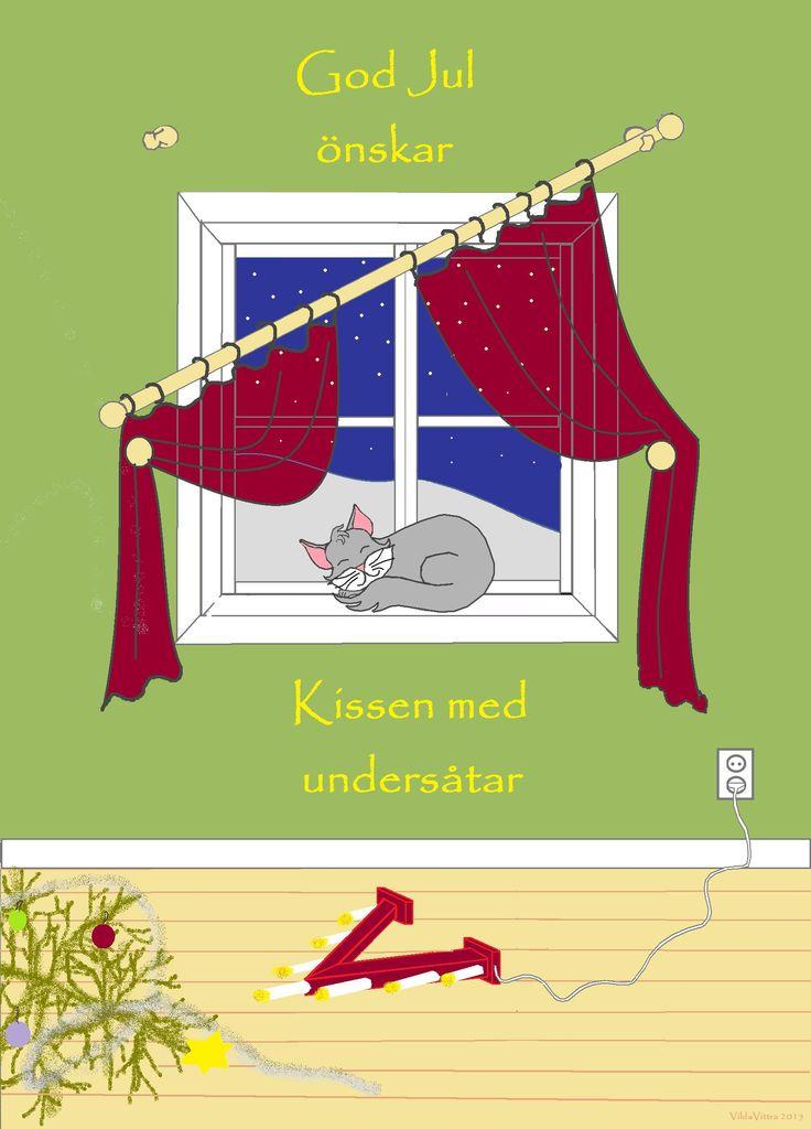 christmas card cat