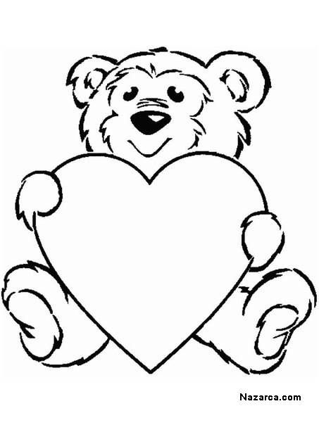 Ayili Kalpli Kolay Boyama Sayfalari Cameo Valentines Valentines