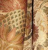 6 yards Elegant Champagne Victorian Artichoke Floral Heavy Satin Brocade Upholstery Drapery Fabric