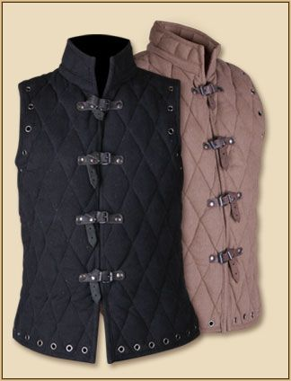 Gambeson Vest - Can be used with Arthur Sleeves. Could also consider Vambraces/Greaves