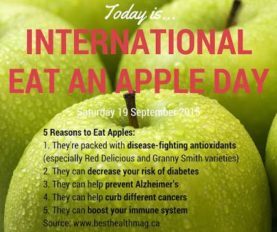 Here are five reasons to eat an-apple-a-day... #apples #anappleaday #internationaleatanappleday