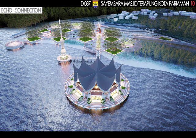 """Sayembara Masjid Terapung Kota Pariaman """"Konsep Desain 6"""" ~ 1000+ Inspirasi Desain Teknologi Konstruksi Arsitektur"""