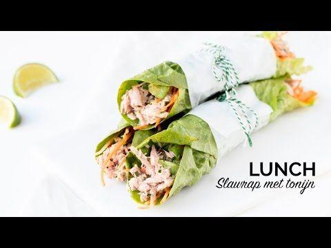 Makkelijke lunch - Sla wrap met tonijn (video) - De Genietende Foodie