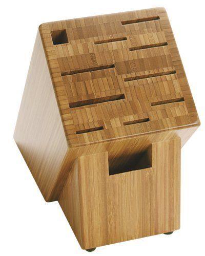 $57.95 Shun 11-Slot Bamboo Block by Shun, http://www.amazon.com/dp/B00022YELM/ref=cm_sw_r_pi_dp_cjZErb1KQC123