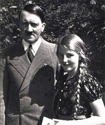 Geli Raubal and Adolf Hitler. Geli was his neice (half sister's daughter). They were romantically involved from when she was 17 until her suicide when she was 23, ostensibly because she couldn't take his controlling nature anymore.: Geli Raubal, Maria Reiter, Wwii, Adolf Hitler, Girlfriends Hitler, Daughters, War Ii, Holocaust, Young Girls