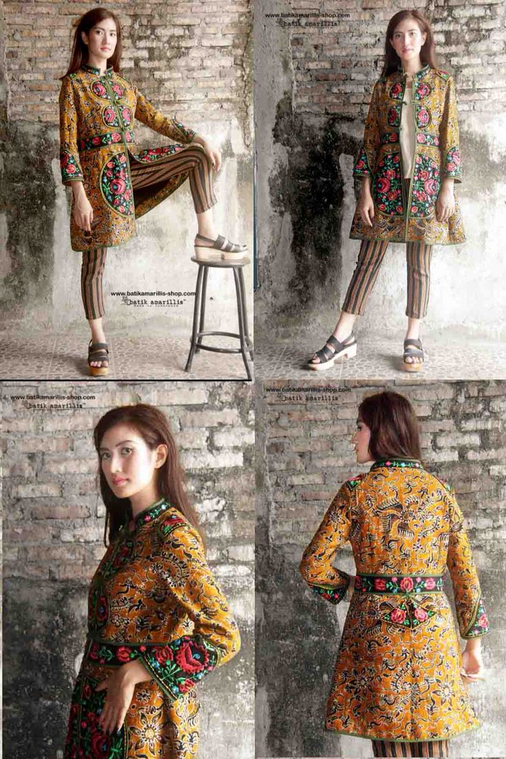 Batik Amarillis Made in Indonesia .....this is when Indonesia's traditional textile meets Hungarian embroidery...