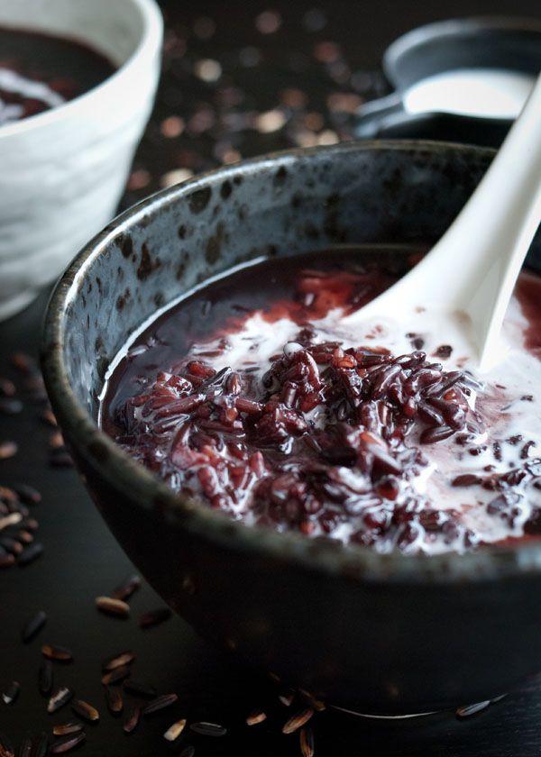 Pulut Hitam: black sticky rice pudding