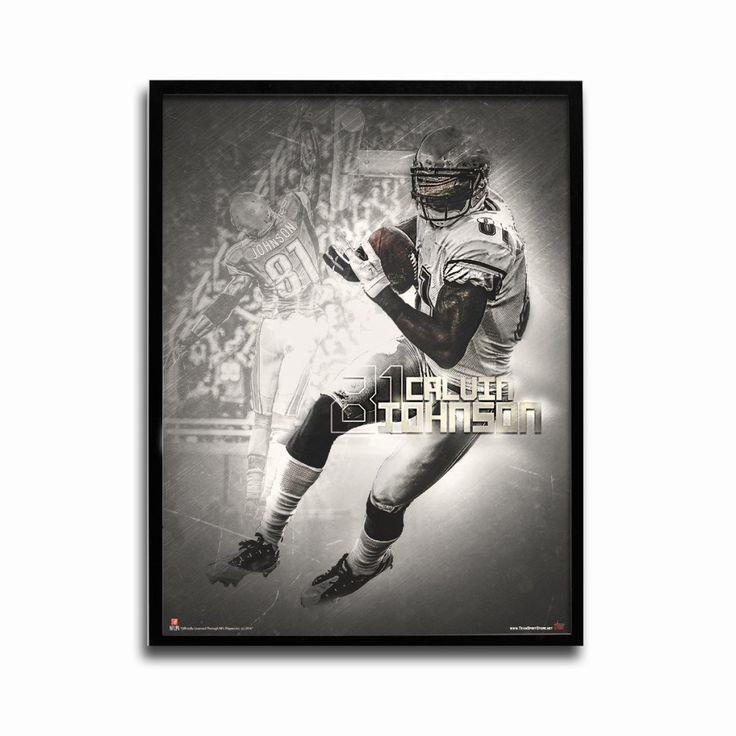 Detroit Lions Calvin Johnson Legends 24x18 Football Poster