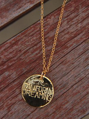 Gold California Dreaming Necklace // Perfect for summer