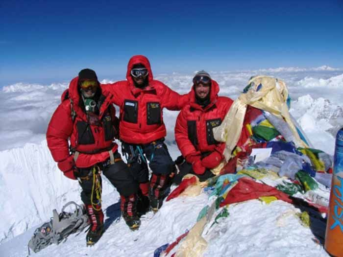 Top of Mount Everest.