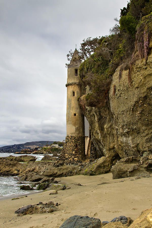 Abandoned 'Pirate Tower', Victoria Beach, Laguna California. Photography by Barbara Eads.