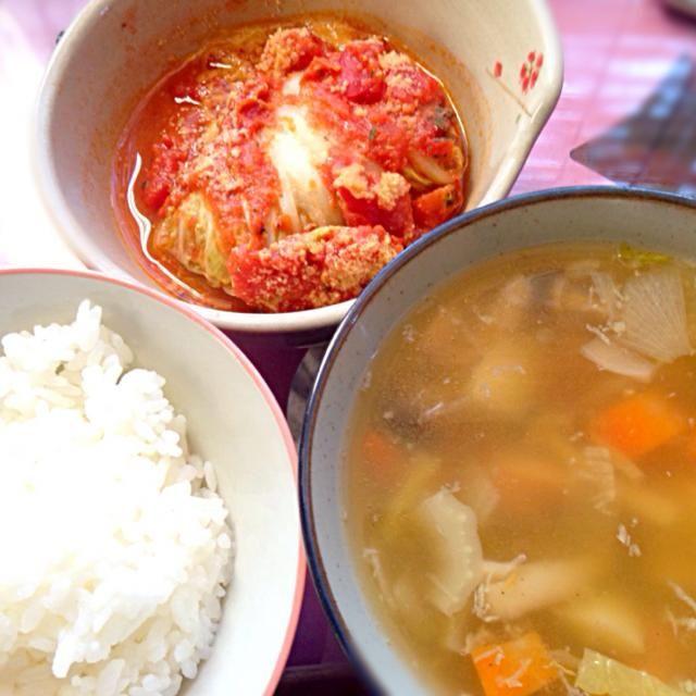 12/1の夕ご飯は、ロール白菜とポトフ、白米。 - 6件のもぐもぐ - ロール白菜 by Marietty