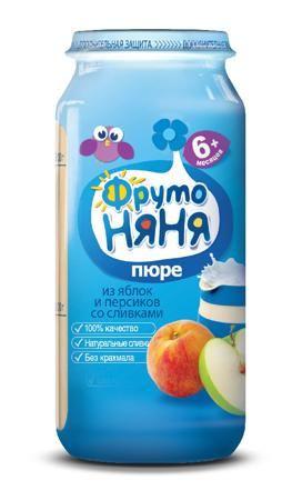 Пюре Фрутоняня яблоко-персик, 250 г  — 48р. -------------------- «ФрутоНяня» — это высококачественное детское питание, для производства которого используются тщательно отобранное сырье и самые современные технологии. Предлагаемая линейка продуктов в полной мере удовлетворяет потребности ребенка раннего возраста в сбалансированной, полезной и вкусной пище. За счет содержания в яблоках органических кислот пюре является особенно полезным для детей раннего возраста. Пектин оказывает…