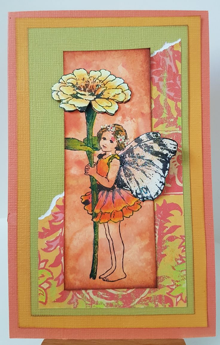 Zinnia by Crafter's Companion. Card by Susan of Art Attic Studio
