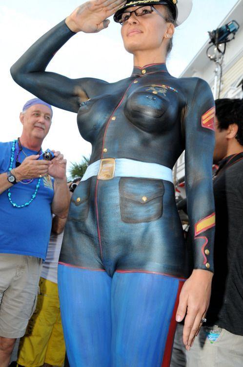 Veterans Day  Girls Body Painted
