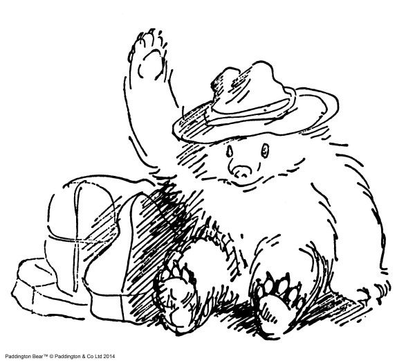 """'Paddington's eyes gleamed as he started to unlock his suitcase. """"I think I shall bid for that, Mr. Gruber,"""" he said excitedly, as he peered inside the secret compartment to see how much money he had. """"It's the next item in the catalogue. I think I should like a preserves stand for my marmalade.""""  From 'Paddington Helps Out' by Michael Bond"""