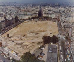 Préparation des travaux de la Tour Montparnasse. Paris, 1967.