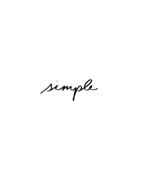 simple ♡