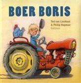 Boer Boris, Ted van Lieshout en Philip Hopman. Boer Boris heeft een boerderij. Daar hoort 1 grote tractor bij. Daar rijdt hij mee over zijn land. Zie je de sporen in het zand? Boer Boris heeft een boerderij. Daar horen ook 2 schuren bij. Er is nog zo veel te zien op de boerderij: ploegen, akkers met vogelverschrikkers erop, en natuurlijk heel veel dieren. Want behalve Knol het paard zijn er varkens, koeien, een klein kalfje, schapen, muizen en kippen. Alles kan worden geteld van 1 tot 11…