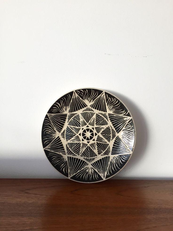 Vintage Wandteller, Werner Schmidt Pulsnitz Keramik DDR , German Pottery, Mid Century, Plate ceramic, Mosaik von moovi auf Etsy