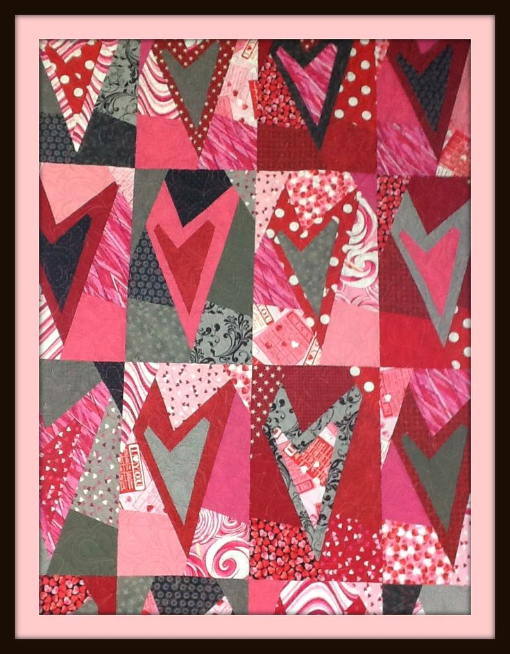Valentine Quilt - Buggy Barn Pattern.  I've made this pattern at least 7 times - it's always cute, turns out fun and is easy peasy.  love it!!