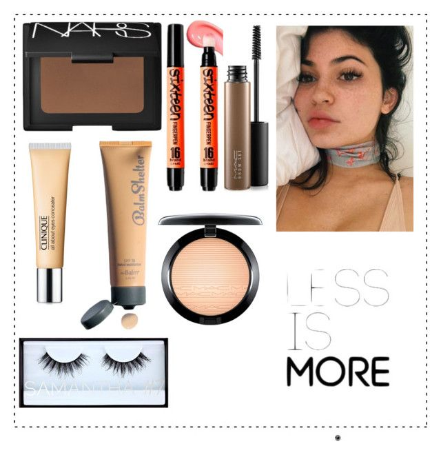 """""no"" makeup"" by kiwijulin on Polyvore featuring beauty, NARS Cosmetics, Clinique, Huda Beauty and MAC Cosmetics"