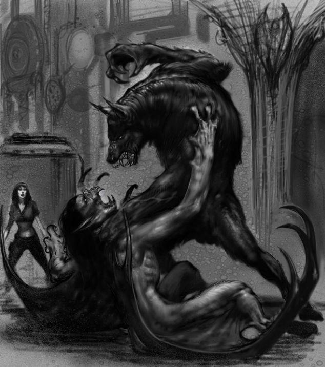 van helsing concept art by Carlos Huante | Werewolves ...
