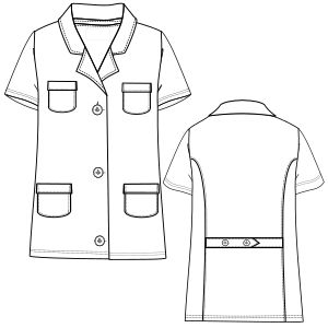Modelos de ropa profesional. Hazlo tu mism@ Guardapolvo MC 2898 UNIFORMES Guardapolvos