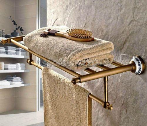 Retro-Antique-Brass-Bathroom-Towel-Rack-with-Shelf-Towel-Bar-Towel-Rail-lba411
