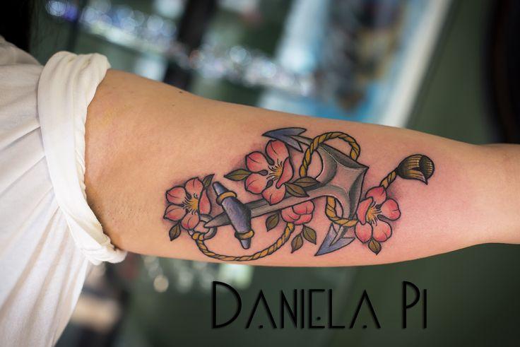 Anchor Tattoo done  by Daniela Pi @ Evil Machines ,Roma