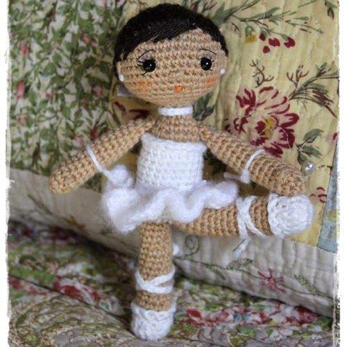Patrones Amigurumi: Bailarina pequeñita ༺✿Teresa Restegui http://www.pinterest.com/teretegui/✿༻