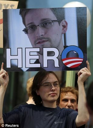 Americans turn against government as poll shows a majority SUPPORT Edward Snowden as a whistle-blower, not a traitor