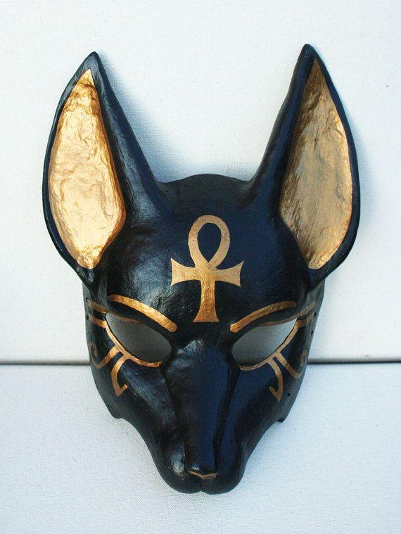 Anubis Mask with Ankh Symbol by NonDecaffeinatedArt on Etsy