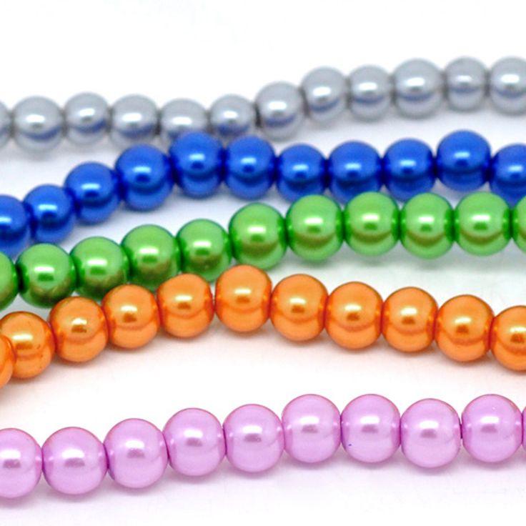 550 Mix Glaswachsperlen 8mm (5 Stränge à 82cm) Kugel rund Wachsperlen | Glaswachsperlen | Perlen |  günstig kaufen bei Bacabella.com | Perlen, Schmuck und Schmuckzubehör zum Schmuck selber machen | Schmuck basteln DIY DoItYourself | ganz individuell und einfach | Schmuckperlen