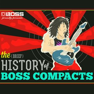 History of Boss pedal effects infographic | Boss Roland. Research!